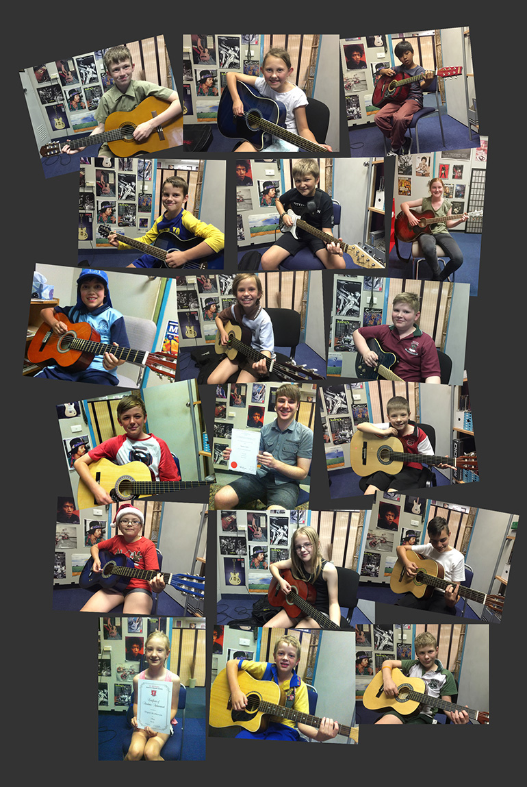 Students at the Campbelltown Academy of Guitar