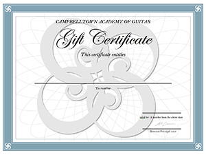 Our gift certificates are valid for 12 months